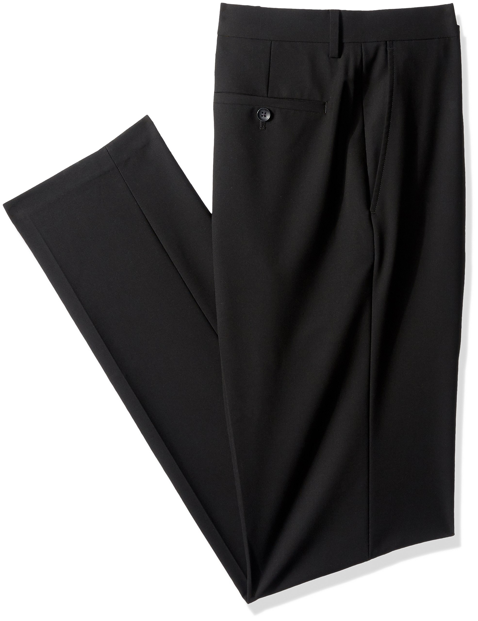 Haggar J.M 4-Way Stretch Solid Flat Front Slim Fit Suit Separate Pant, Black, 36Wx36L by Haggar