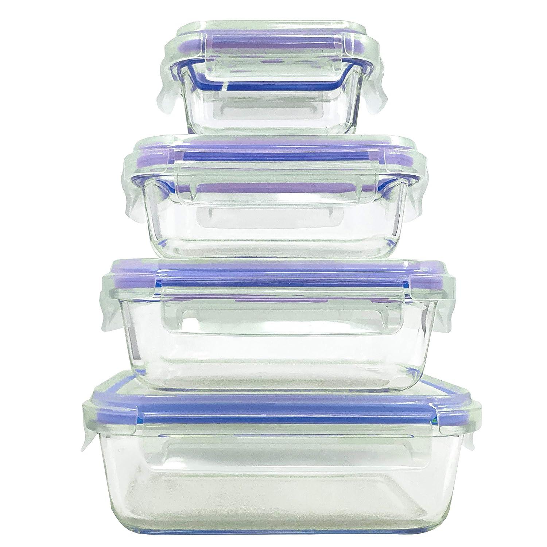 Home Fleek - Envases de Vidrio para Alimentos | 4 Recipientes + 4 ...