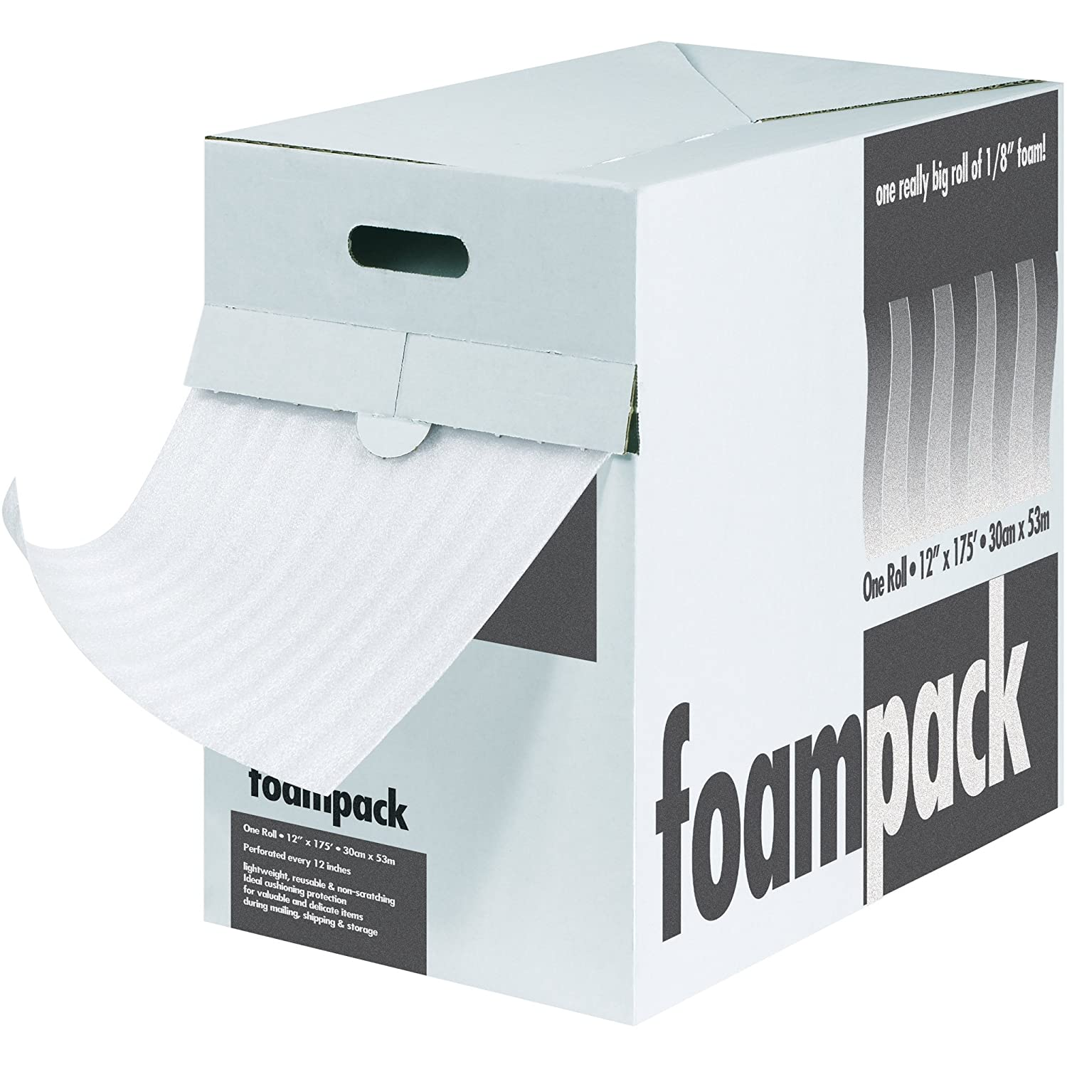 Top Pack Supply Air Foam Dispenser Packs, 1/4' x 12' x 85', White (Pack of 1) 1/4 x 12 x 85' Box Partners TPFD1412