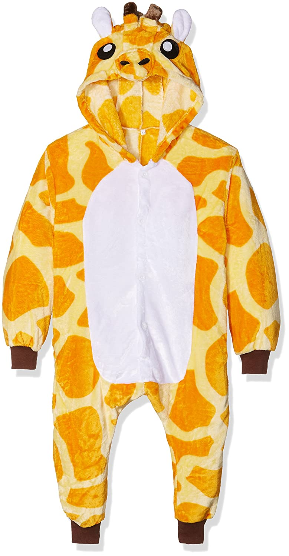 Kigurumi Unisex-Kids Costume Cosplay Halloween E Pigiama-Giraffe Pyjama Set 85 cm