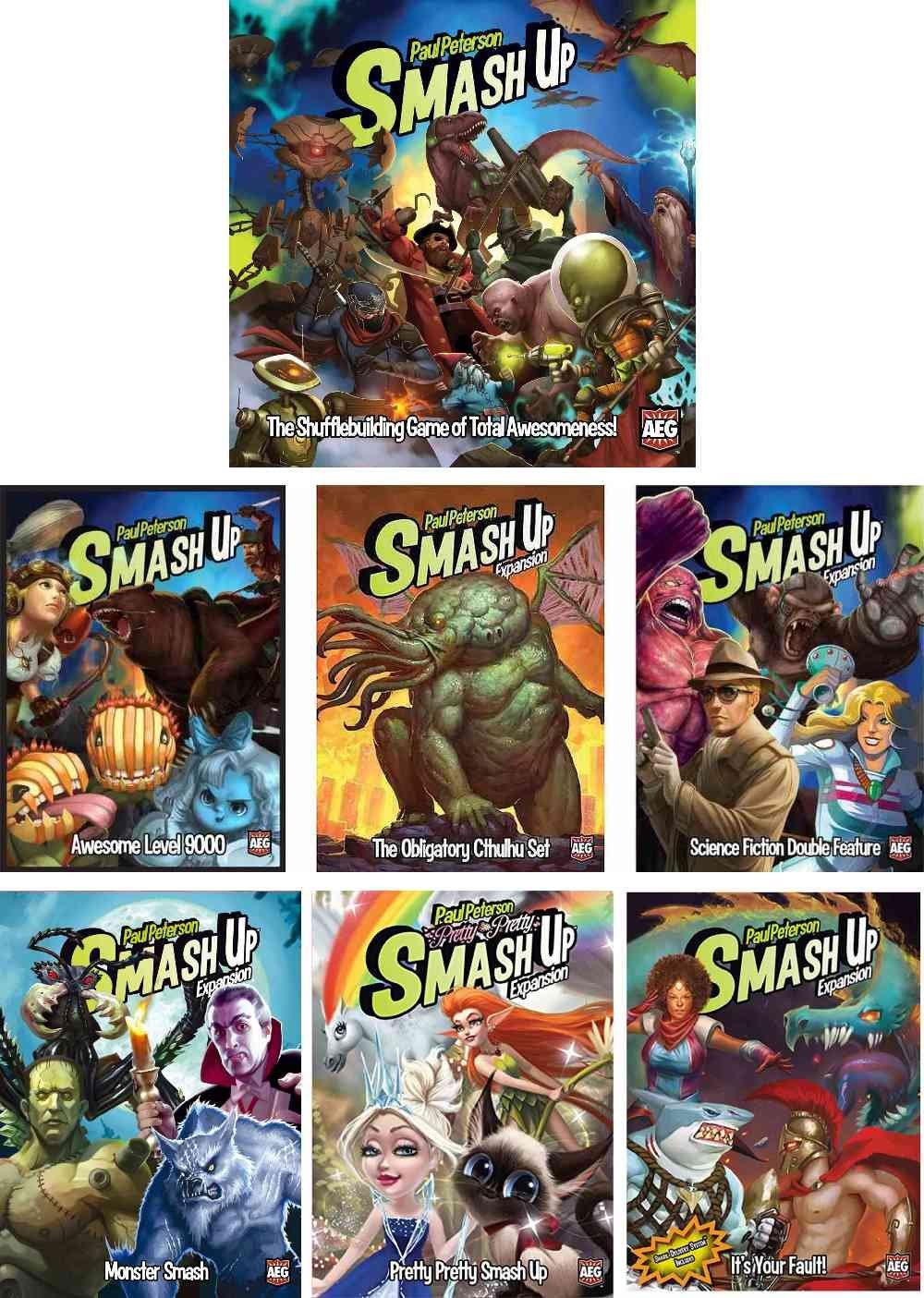 Smash Up Bundle of Base Card Game plus 6 Expansions