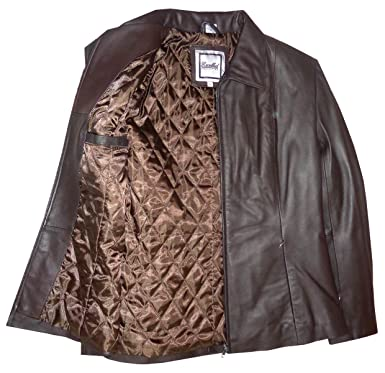23f276d59ea Excelled Womn s Leather Jacket Jacket Brown (L) at Amazon Women s ...