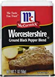 McCormick Ground Black Pepper Blend 2oz Can (Pack of 3) Select Flavor Below (Worcestershire)