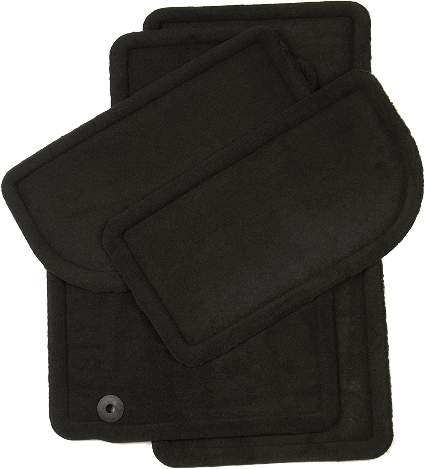 GM Accessories 22865844 Front and Rear Carpeted Floor Mats in Ebony