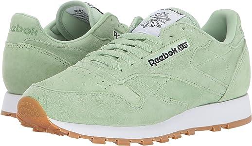 b7cf8290cbdfb Men s Classic Lthr Pastels Fashion Sneaker. Reebok Men s LTHR Pastels  Fashion Sneaker Aloe Green Classic White Coal-Gum 7.5