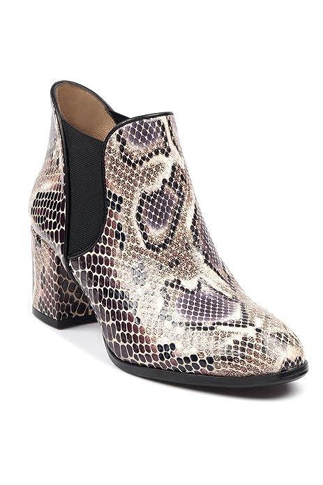 BOBERCK Coleccion Tyler Botin de Cuero Snake Print para Mujer Rock Glam: Amazon.es: Zapatos y complementos