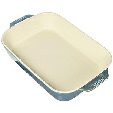 Staub 40511-890 Ceramics Rectangular Baking Dish, 13x9-inch, Rustic Turquoise