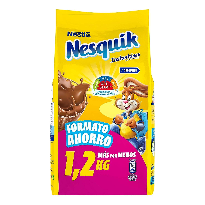 Nestlé NESQUIK Cacao Soluble Instantáneo - Bolsa de cacao soluble 1,2kg: Amazon.es: Alimentación y bebidas