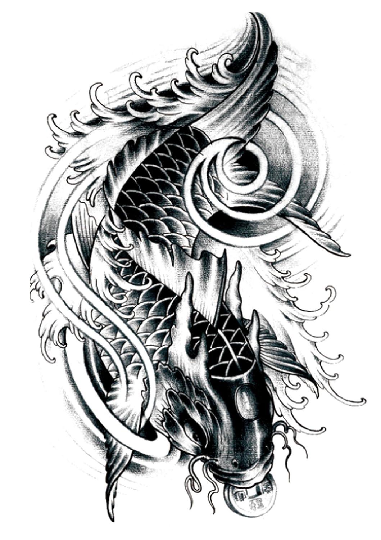621881fbf Amazon.com: Japanese koi fish carp black large 8.25