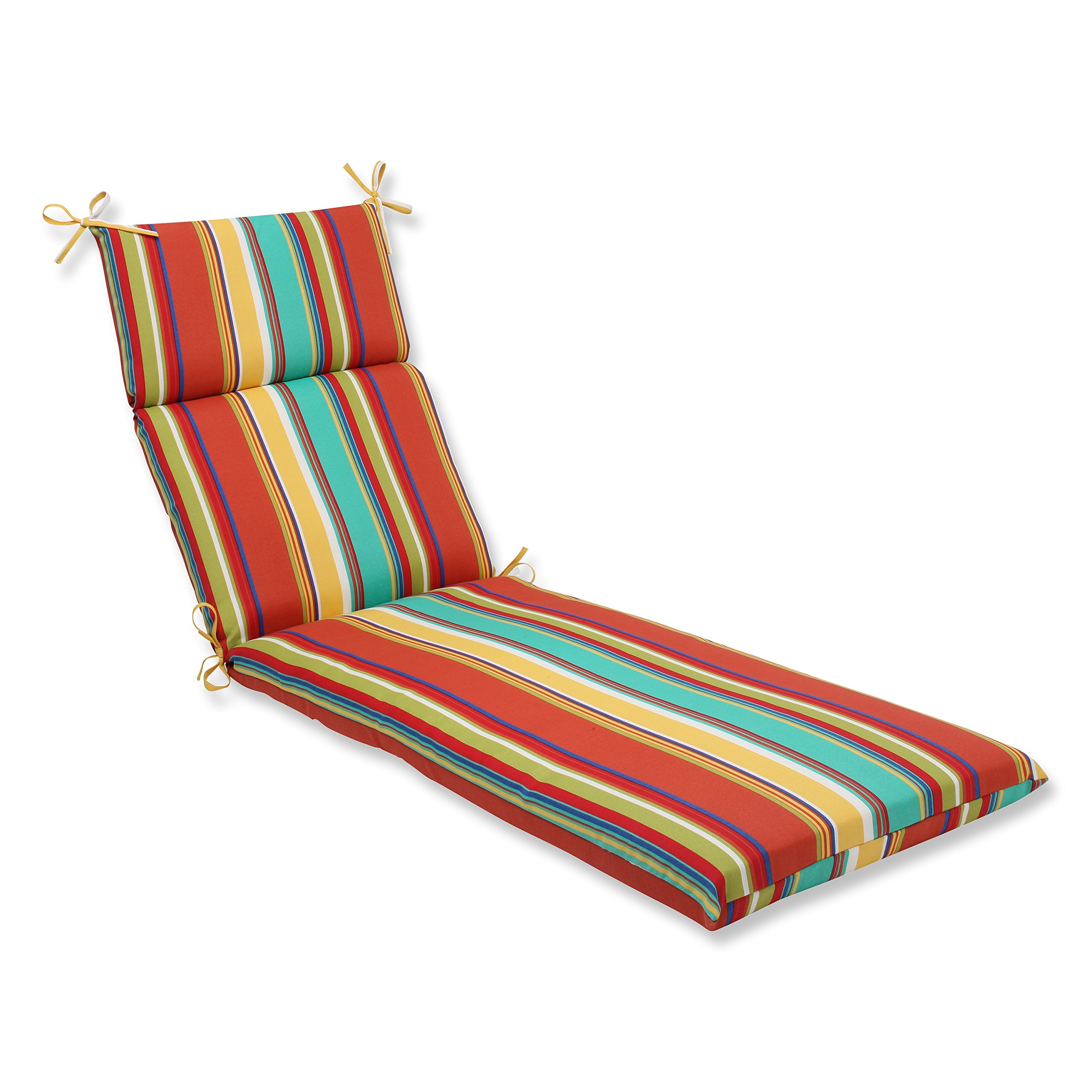 Pillow Perfect Outdoor Westport Spring Chaise Lounge Cushion, Multicolored
