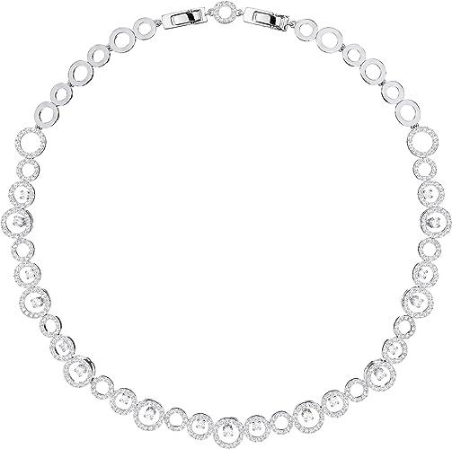 Swarovski Collier Creativity, blanc, métal rhodié: Amazon.fr: Bijoux