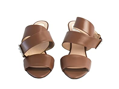 449def0d96da44 Image Unavailable. Image not available for. Color   Internationalbrandsdiffusion Fendi Brown Geometric Fall Strappy Flower  Sandal