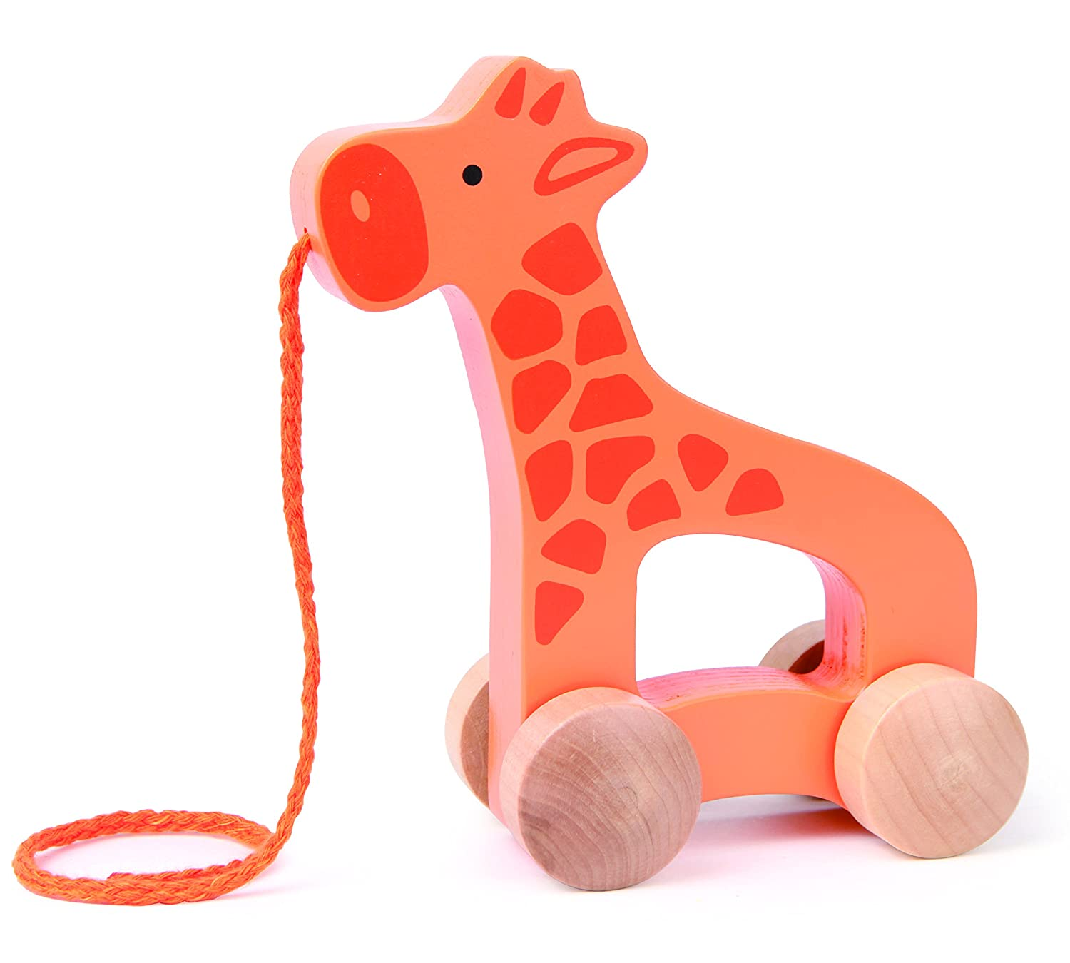 Amazon Hape Giraffe Wooden Push and Pull Toddler Toy Toys