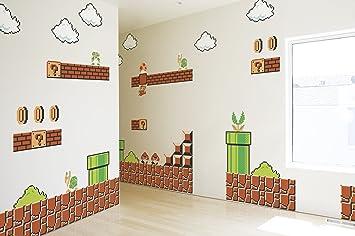 Super Mario Wandtattoo Super Mario Bros Amazon De Spielzeug