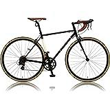 カノーバー クラシック ロードバイク 700C シマノ14段変速 CAR-013 (ORPHEUS) クロモリフレーム フロントLEDライト付 [メーカー保証1年]