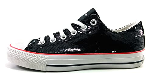 Xti Lentejuelas Zapatillas Mujer Negras Casual: Amazon.es: Zapatos y complementos