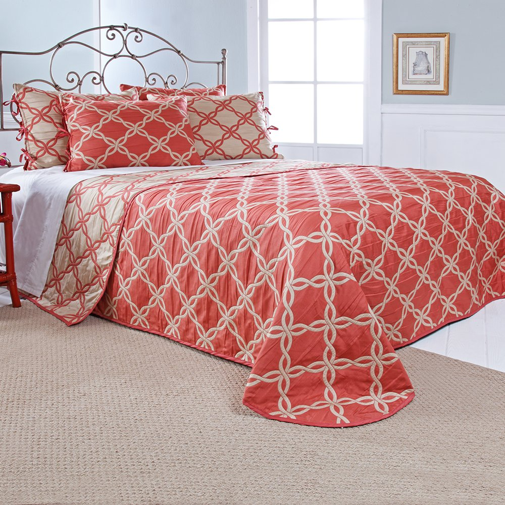 Stylemaster Home Products Renaissance Home Fashion Belmont Reversible Bedspread King Harbor