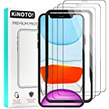 [3-Pack] Kinoto Tempered Glass Screen Protector for iPhone 11 / iPhone XR 6.1-Inch Screen Protectors with Installation Frame,