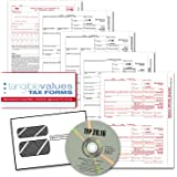Tangible Values 1099 Misc Laser Forms (4-Part) Kit with Envelopes Plus TFP Software for 25 Individuals/Suppliers (2016)