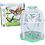 Uncle Milton Butterfly Farm Live Habitat - Observe Butterfly Lifecycle in Garden – Includes Voucher to Redeem for Caterpillar