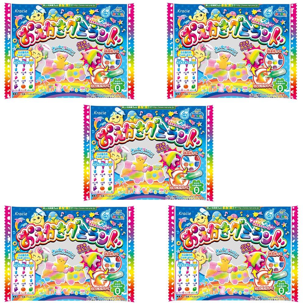 Drawing Gu-mmy Land Set Japaneese DIY Candy 5pcs Kracie Children Snack Food Ninjapo