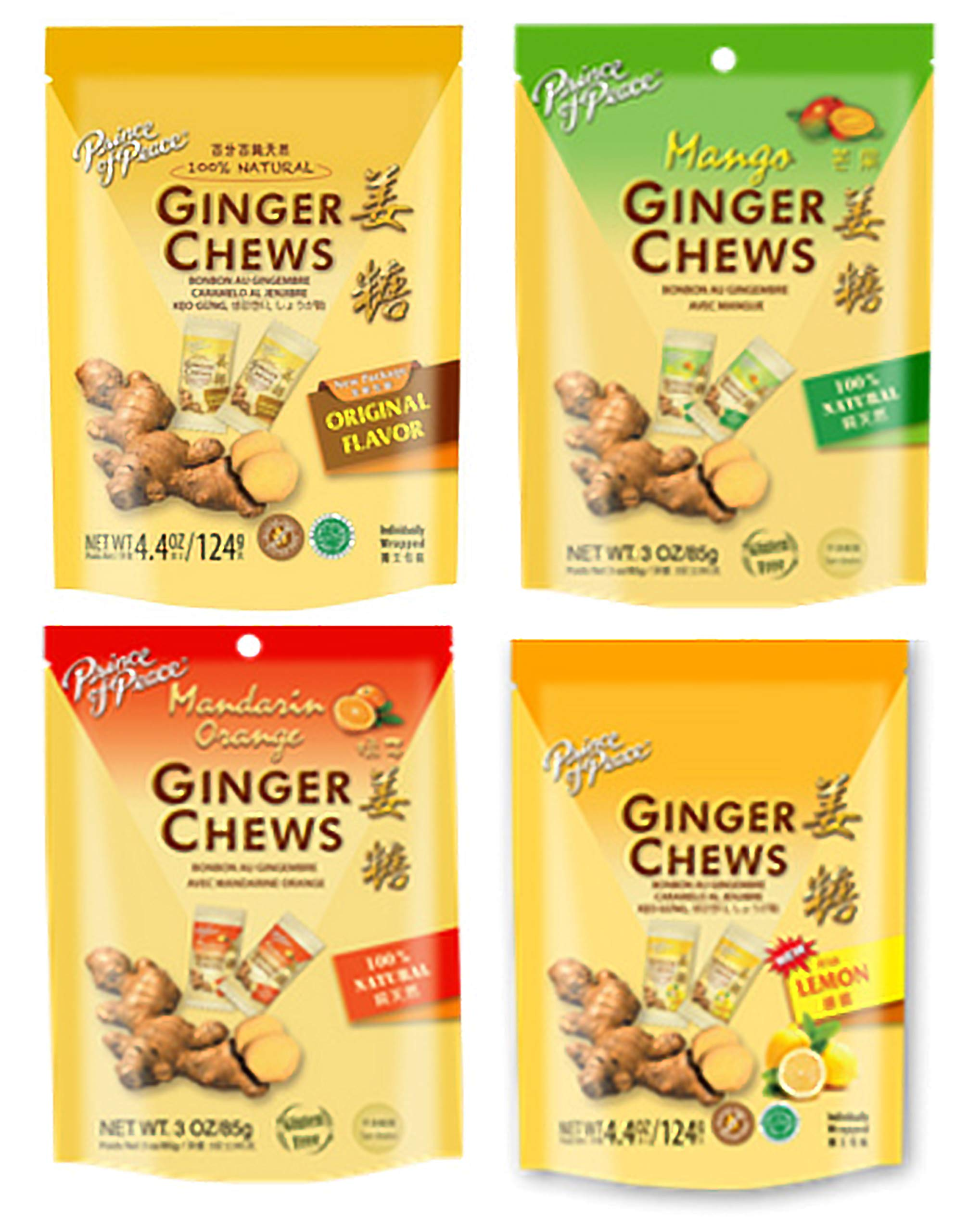 Prince of Peace Ginger Chews Pack of Assorted Flavors