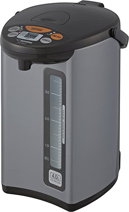 Zojirushi CD-JWC40HS Water Boiler /& Warmer 4 L Silver Gray