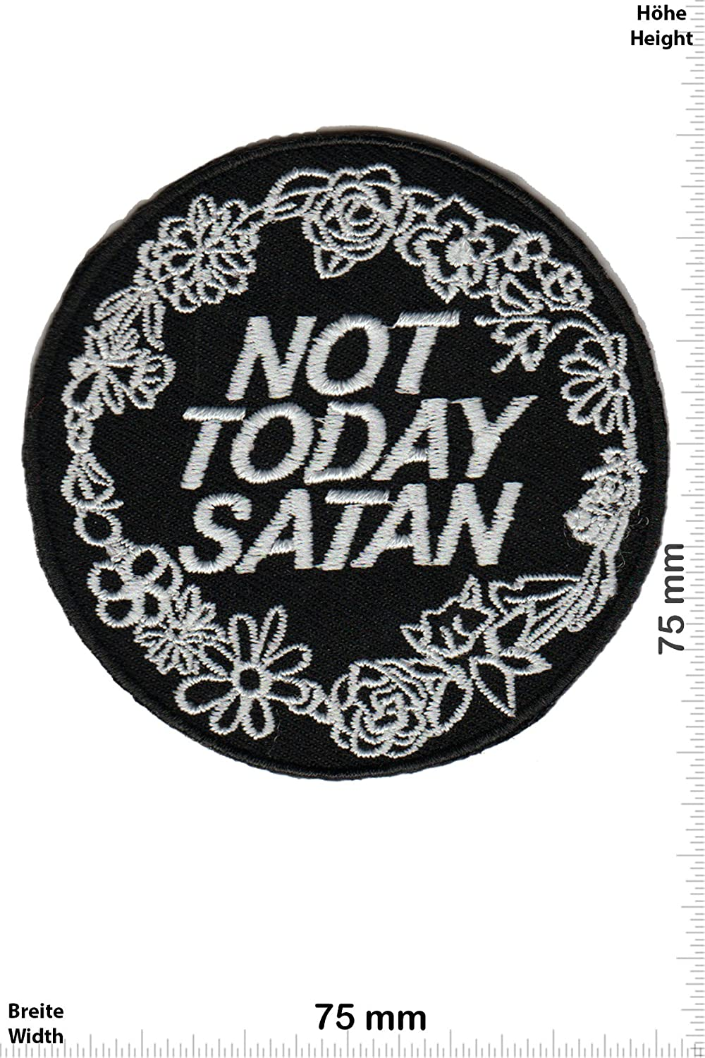 Patch-Iron-Not Today SATAN - Iron On Patches Aufn/äher Embleme B/ügelbild Aufb/ügler - Fun