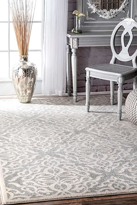 New Living Room Area Rug Grey Silver Contemporary Classic Traditional Soft  Rugs 9x12 Elegant Design Bedroom