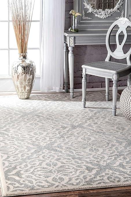 Amazon Com New Living Room Area Rug Grey Silver Contemporary