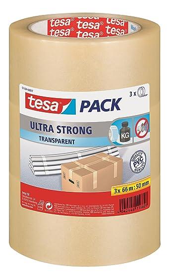 0,07€//m tesa 4124 50mm x 66m weiß Packband Klebeband Paketband ULTRA STRONG
