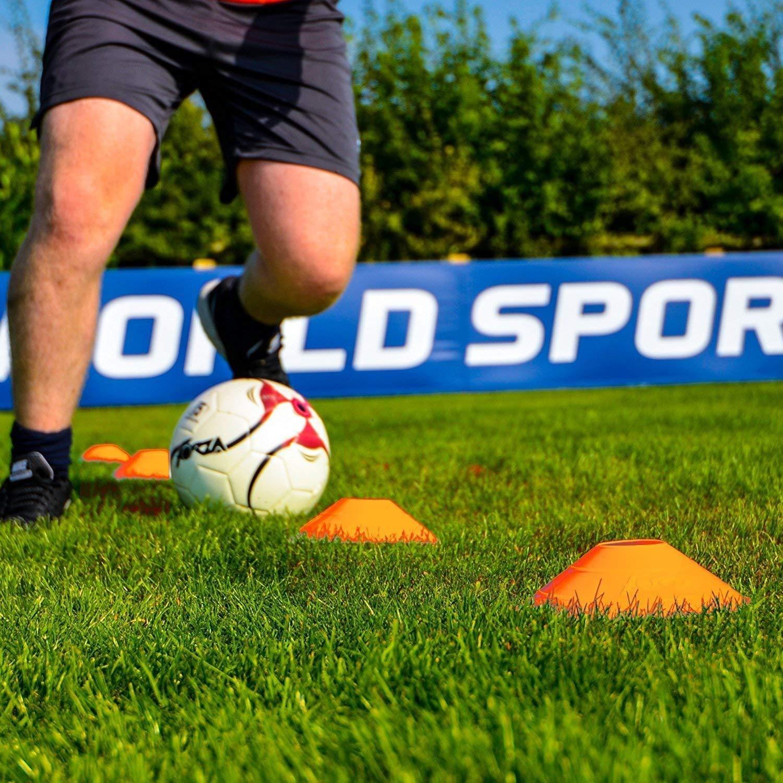 Field Space Marker 2 Pulgadas Awroutdoor Conos De Marcador Conos De Disco De F/útbol Juegos De 50 Piezas Deporte Agilidad Seguridad Conos De F/útbol Juego De Entrenamiento Ni/ños