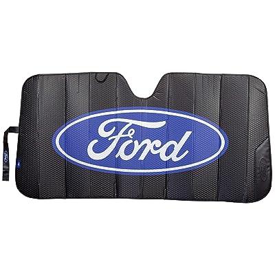 Plasticolor 003858R01 Black Matte Finish Car Truck or SUV Front Ford Logo Windshield Sunshade: Automotive