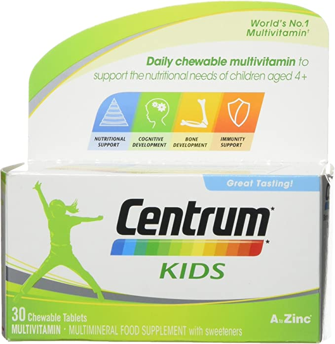 Centrum Multivitamin Tablets for Kids, Pack of 30,Centrum,F000029103