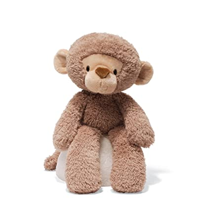 Amazon Com Gund Fuzzy Monkey Stuffed Animal Plush In Brown 13 5