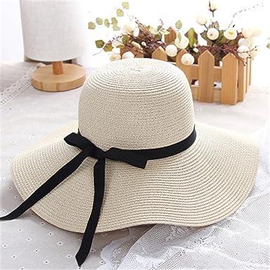 332b51cb New Summer Women Bow Sun Hat Ladies Wide Brim Straw Hats Outdoor Foldable Beach  Panama Hats