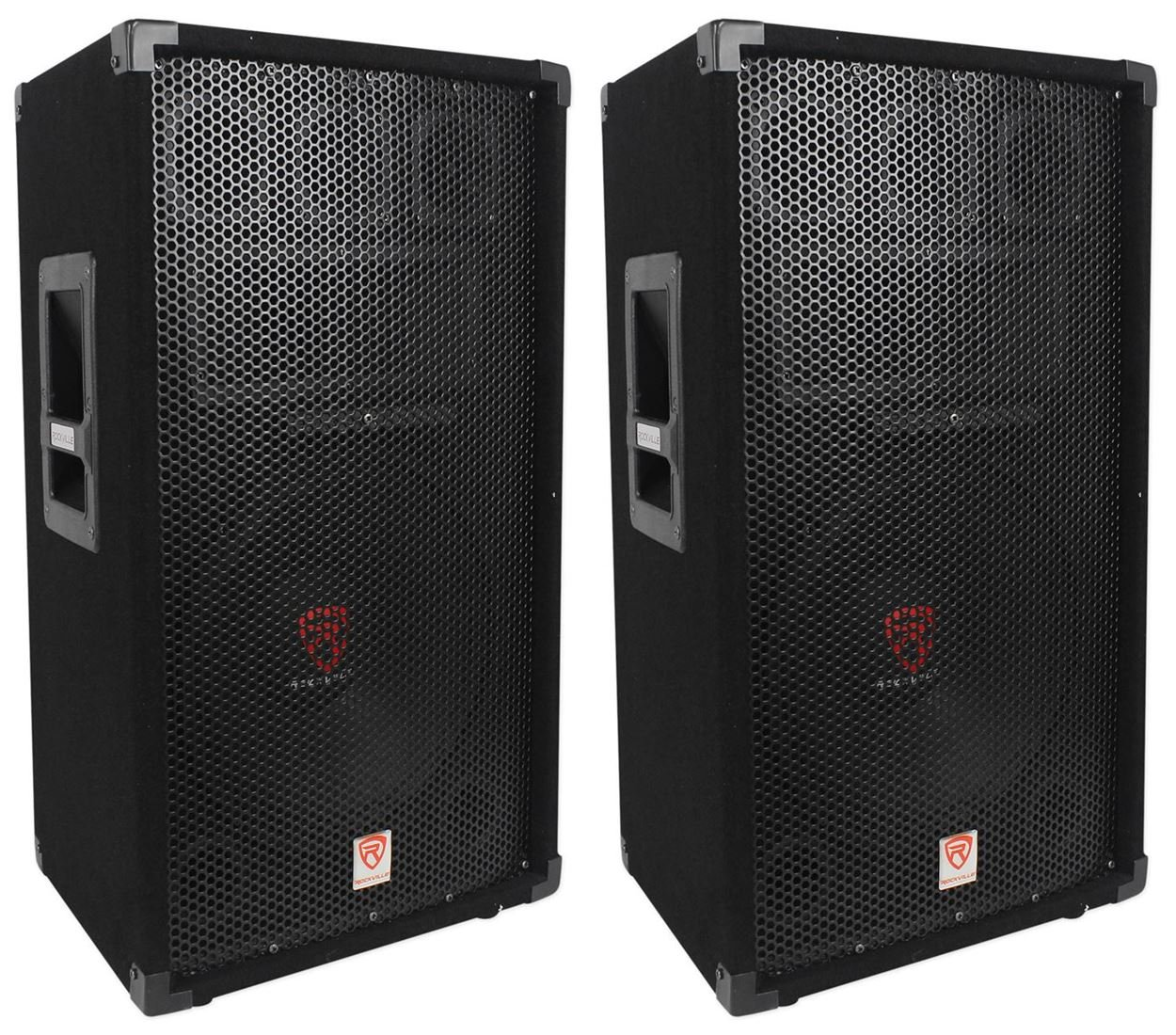 (2) Rockville RSG12 12 3-Way 1000 Watt 8-Ohm Passive DJ/Pro Audio PA Speaker by Rockville