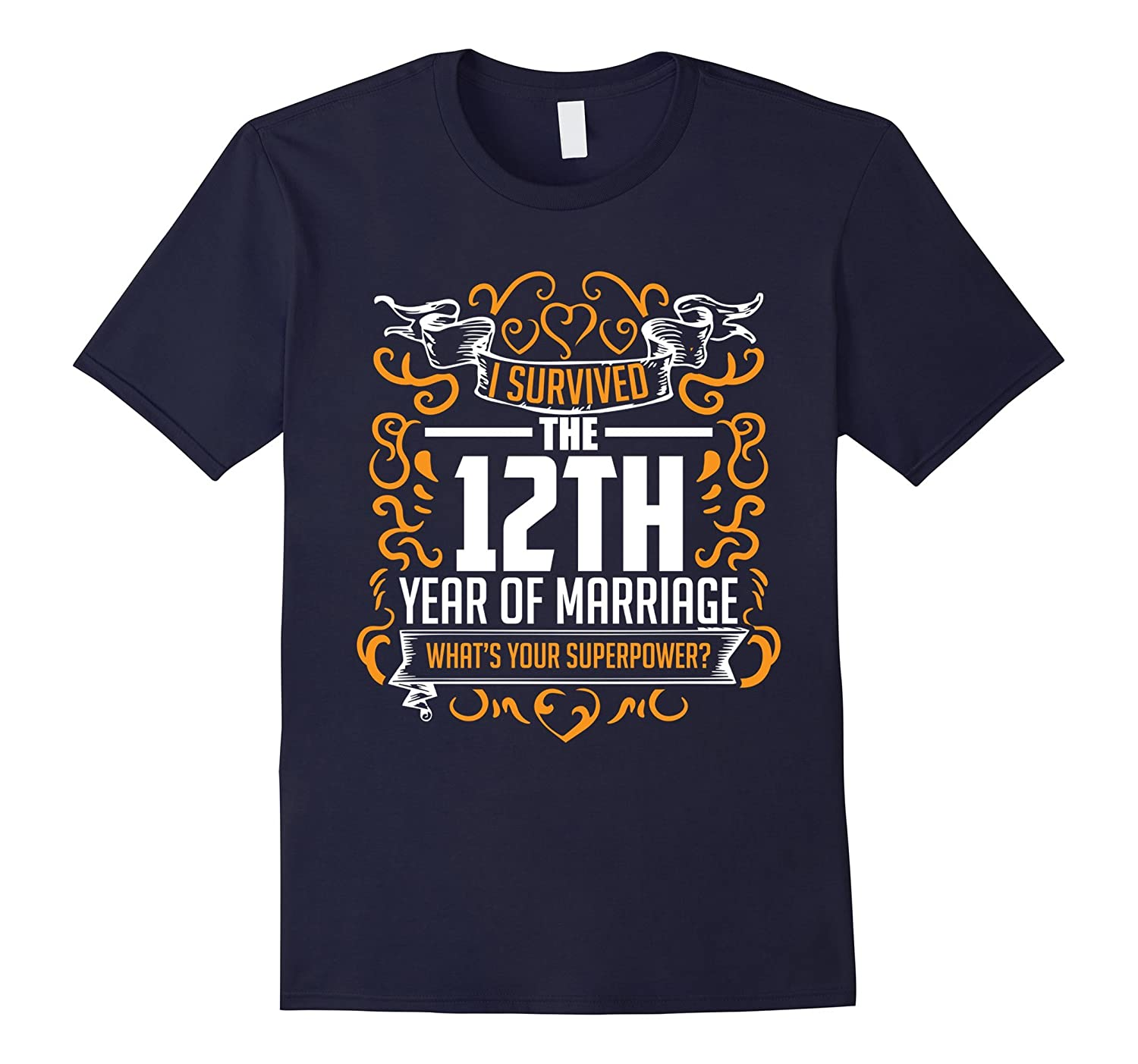 12th Wedding Anniversary Gifts 12 Year T Shirt For Her  Him-RT