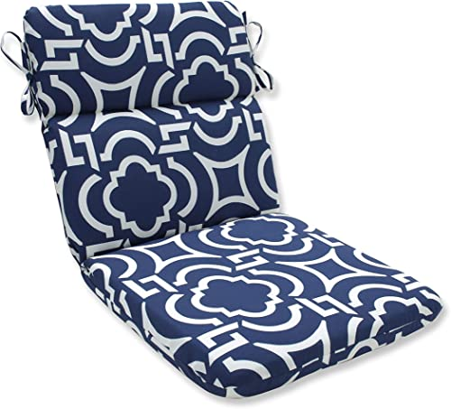 Pillow Perfect Outdoor/Indoor Carmody Navy Round Corner Chair Cushion