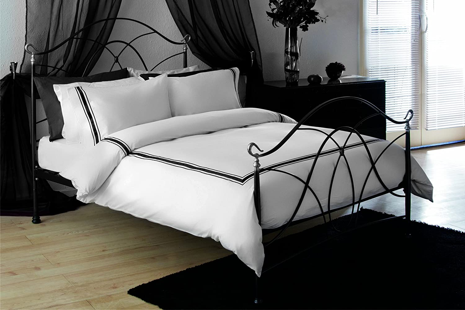 black strip duvet white beautiful sets comforter bedding combine and