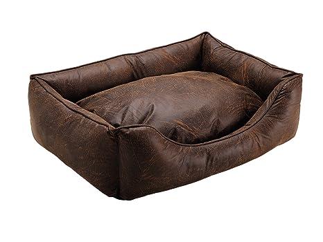 Hunter Liverpool Perro sofá, 80 x 60 cm, Color marrón