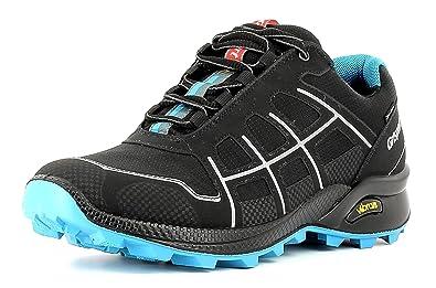 Grisport Unisex Schuhe Herren und Damen Cross Spotex Trekking- und Multifunktions-Schuh, leichte und wasserdichte Spotex-Membran-Konstruktion, Vibram-Sohle Schwarz/Blau (V43), EU 45