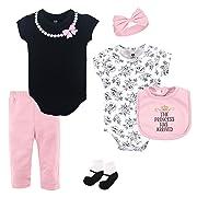 Hudson Baby Unisex Baby Layette, Princess, 6-Piece Set, 0-3 Months (3M)