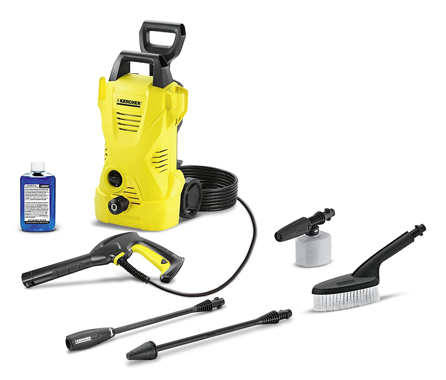 Amazon.com : Karcher K2 Car Care Kit Electric Power Pressure Washer, 1600  PSI, 1.25 GPM : Garden & Outdoor