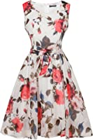 Women's Flare Floral Casual Style Swing Party Mini Dress