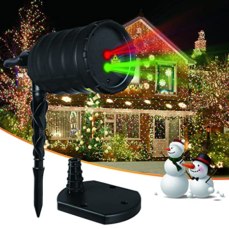 auto vox christmas lightsoutdoor projector lightsmoving red and green star show - Christmas Outdoor Projector