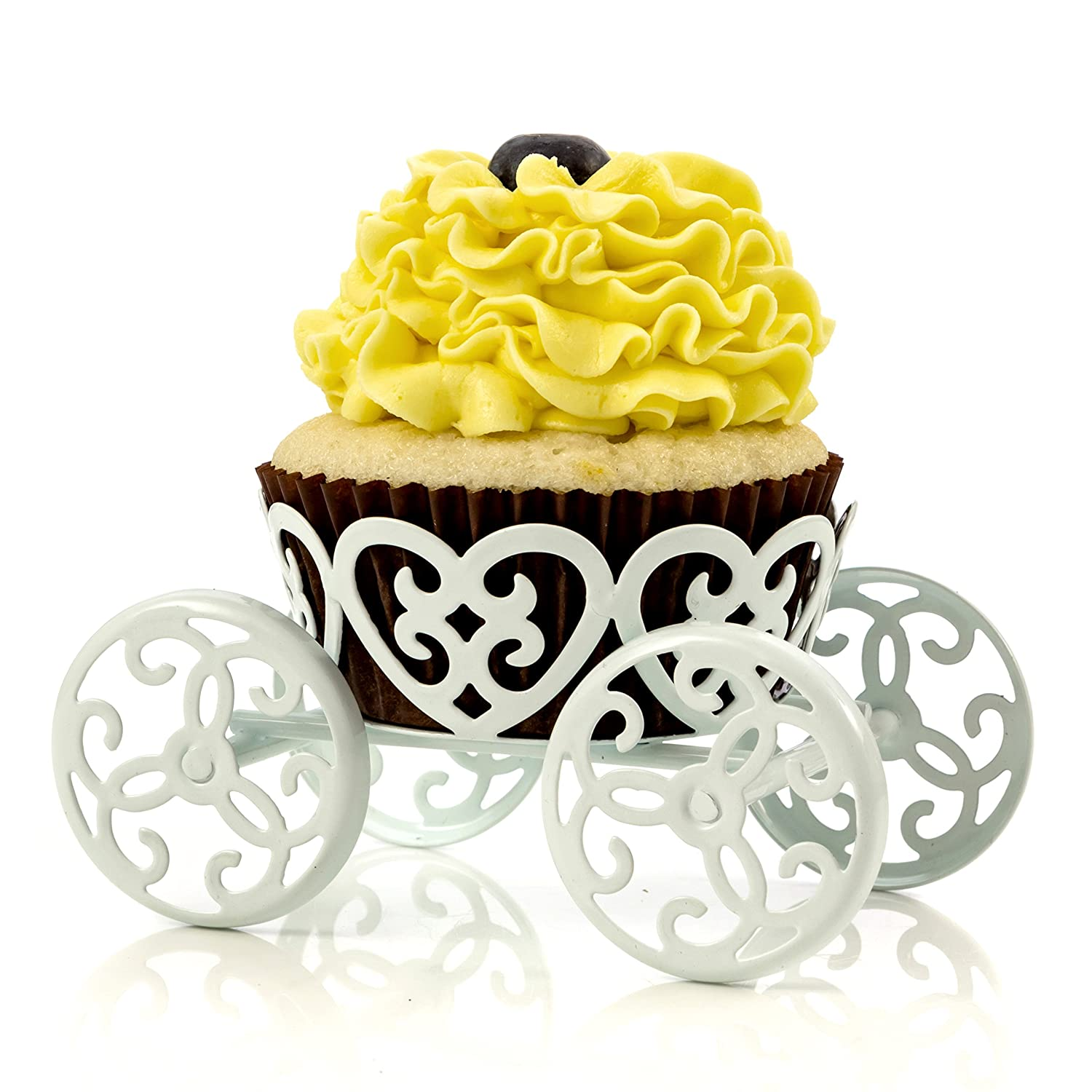 Amazon.com | 2-Pack Single Count Princess Carriage Cupcake Stand ...