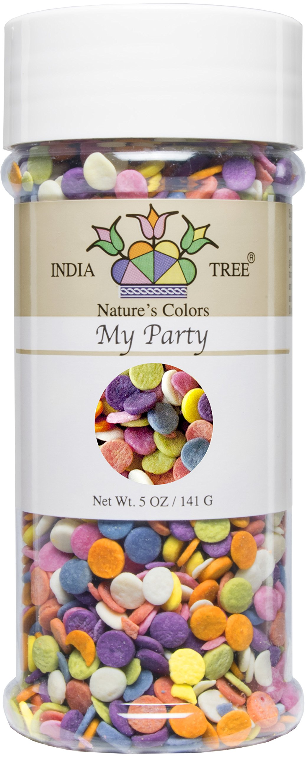 India Tree Nature\'s Colors My Party Decoratifs Jar, 5.0 Ounce ...