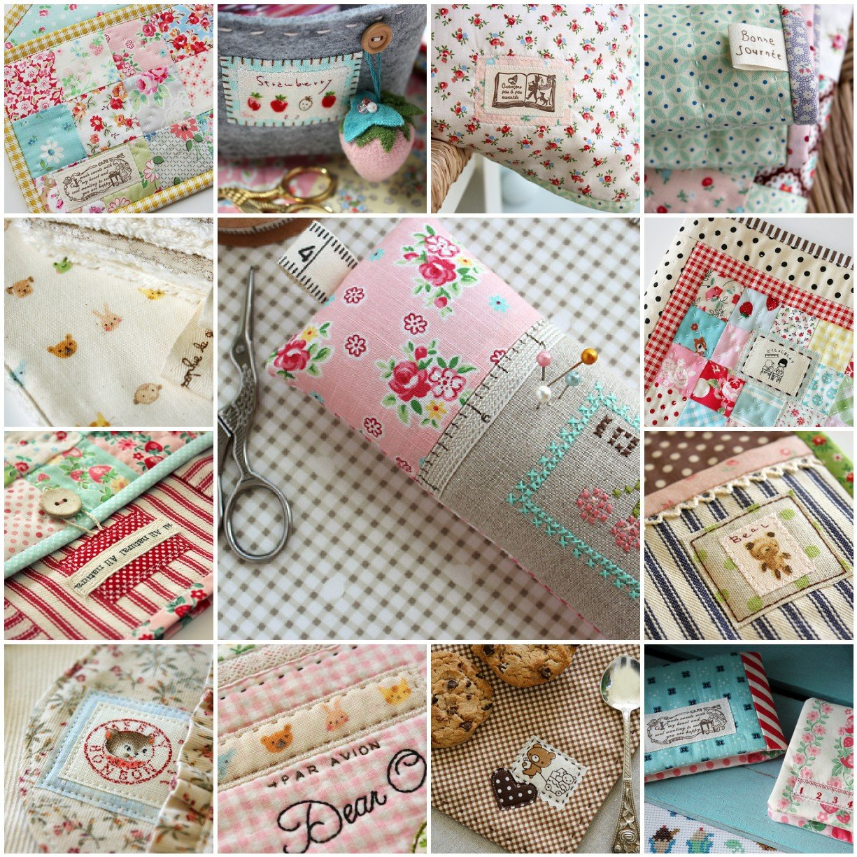 flic-flac 200pcs 4 x 4 inches (10cmx10cm) Cotton Craft Fabric Bundle Squares Patchwork Lint DIY Sewing Scrapbooking Quilting Dot Pattern Artcraft by flic-flac (Image #6)
