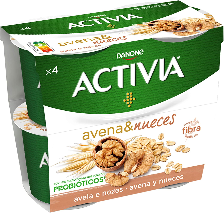 Activia Yogur con Avena y Nueces, 2 x 120g